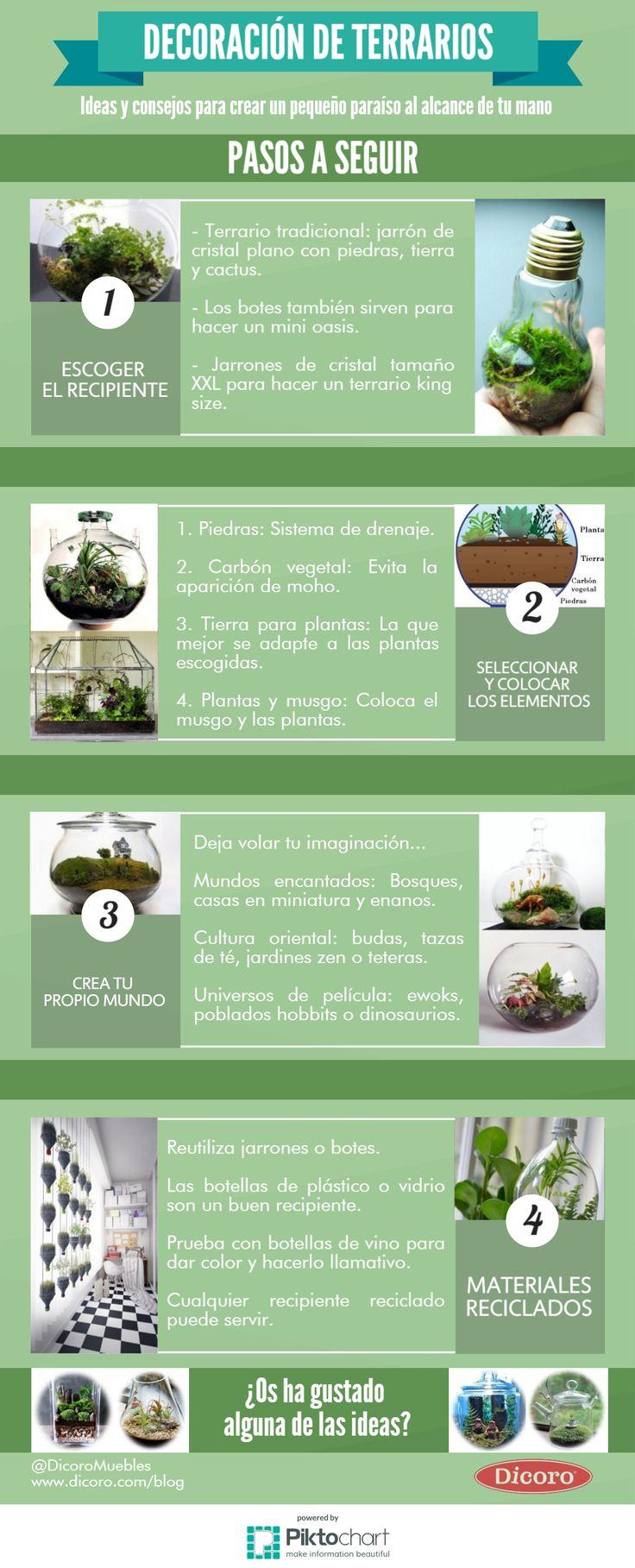 17 migliori idee su terrario su pinterest terrario - Decoracion para terrarios ...