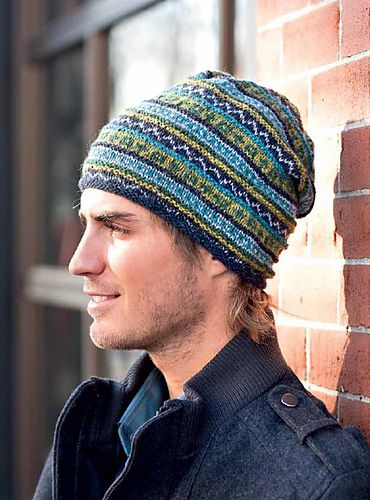 Hued Toque pattern by Gudrun Johnston  The Book, Interweave Favorites: 25 Knitted Accessories to Wear and Share, is on display. Just ask to see it.