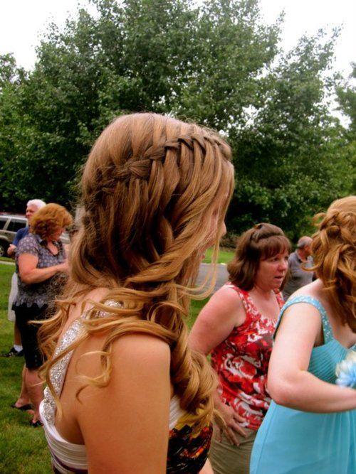 ..French Braids, Braids Hairstyles, Waterfal Braids, Long Hair, Beautiful, Prom Hair, Curls, Hair Style, Waterfall Braids