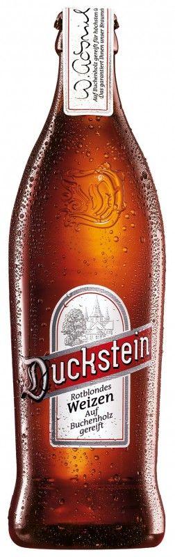 Cerveja Duckstein Rotblondes Weizen, estilo German Weizen, produzida por Holsten-Brauerei, Alemanha. 5.7% ABV de álcool.