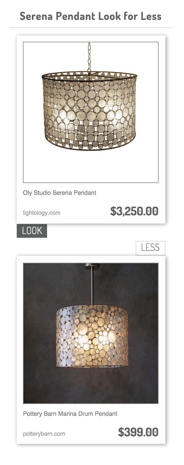 Drum pendant lighting pottery barn : Oly studio serena pendant vs pottery barn marina drum
