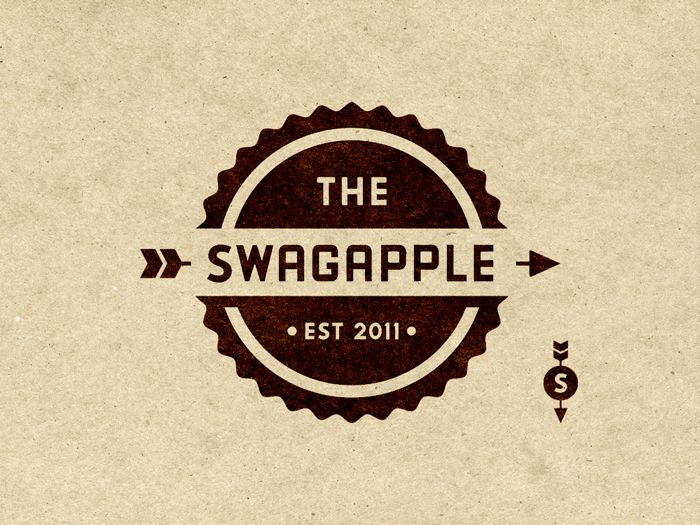 Swagger Apple  Logo and Secondary Mark. Design by Riley Cra: Bottlecap, Design Inspiration, Negative Spaces, Color, Typography Logos, Logos Vintage, Logos Ideas, Vintage Logos Design, Riley Cran