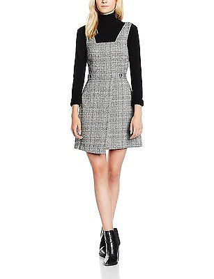 14, Grey (Mid Grey), New Look Women's Fleck Pinny Dress NEW