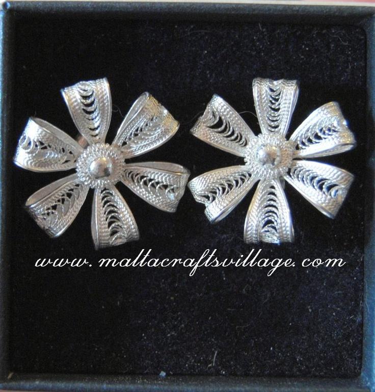 Earrings Ribbons  www.maltacarftsvillage.com  admin@maltacraftsvillage.com