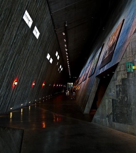 An interior passageway of the Canadian War Museum, in Ottawa.