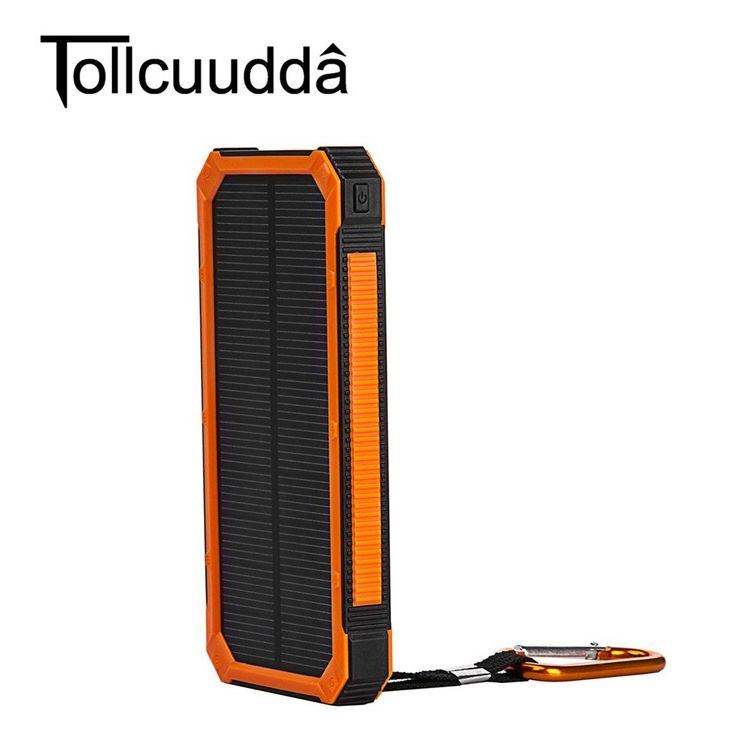 new arrival 10000Mah Solar Charger 2 USB Ports Solar Power Bank Portable Charger for Smartphone
