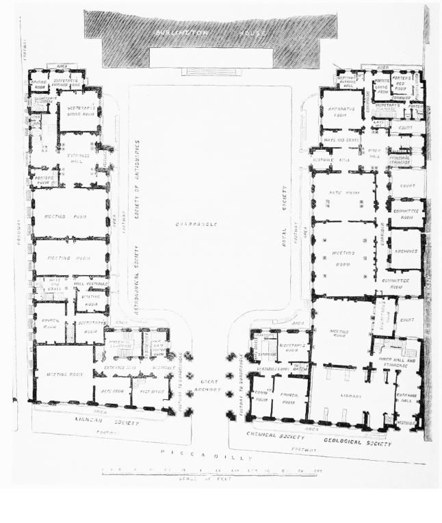 Burlington_house_ _learned_societies_rooms_ground_floor_plan_dated_x Floor Planspublic Domain