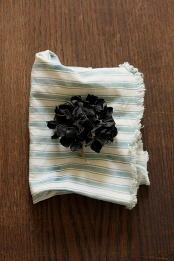 紫陽花 レザー コサージュ | Hydrangea Leather Corsage - Black | IRRE
