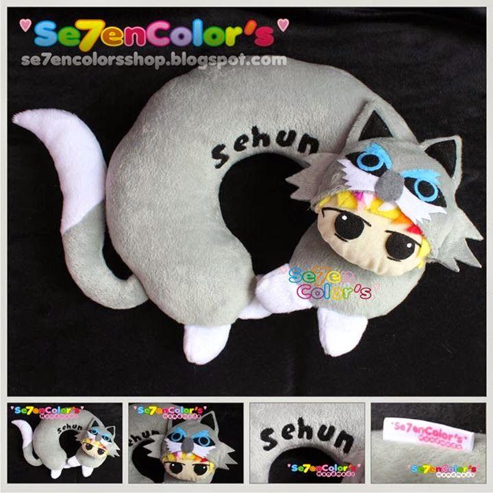 SEHUN of EXO Neck Pillow - Wolf Ver.