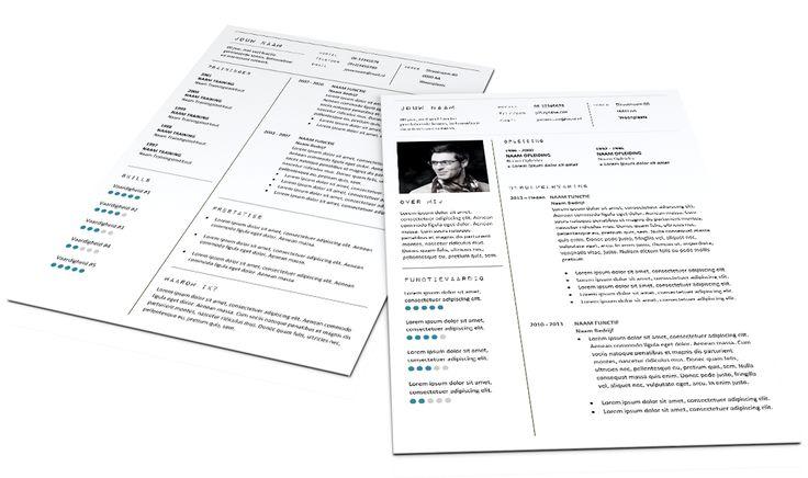 Zakelijk en formeel CV Format 297. Volledig in Microsoft Word voor elke functie zelf aan te passen. www.mooicv.nl