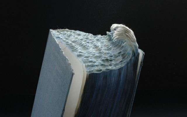 Cresting Wave Book Landscape by Guy Laramee