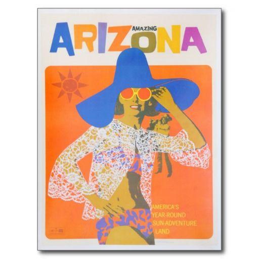 Arte del turismo del viaje del vintage de Arizona