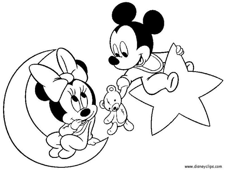 disney babies coloring pages mickey minnie goofy pluto mais - Baby Coloring Pages