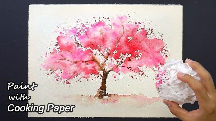 Comment Peindre Un Cerisier Avec Du Papier Cuisson Em 2020 Com