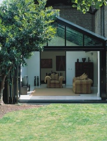 23 best images about glass gables on pinterest for Conservatory sliding doors