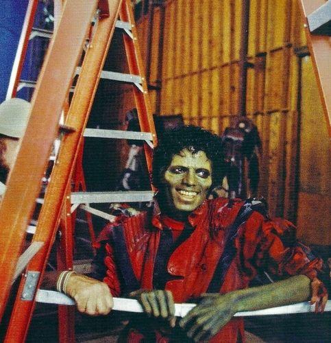 1983. Michael Jackson on the set of his 13 minute music video 'Thriller'. #deepcor #thriller #michaeljackson #music #entertainment #musicvideo #halloween #spooky #costumes