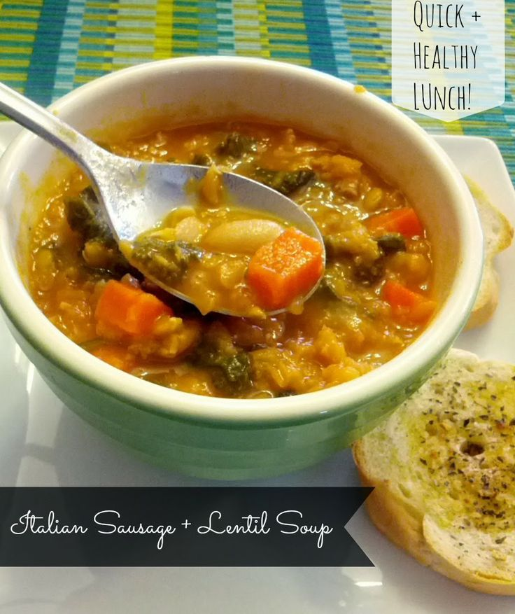 Italian Sausage and Lentil Soup | Being Cheap Is Easy: Simplesoups Italian, Clean Eating, Mills Lentils, Lentils Soups, Italian Sausages Soups, Sausage Lentils, Italian Sausage Soup, Simmering Soups, Bobs Red Mills