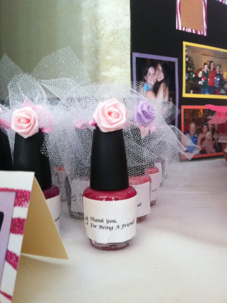 Bridal Shower Theme The Golden Girls Thank You For Being A Friend Nail Polish Favor Hot Glue Tulle And Flower