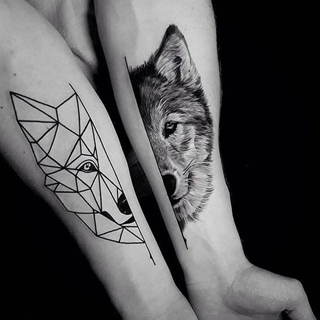 Best 20  Geometric Wolf Tattoo Ideas On Pinterest