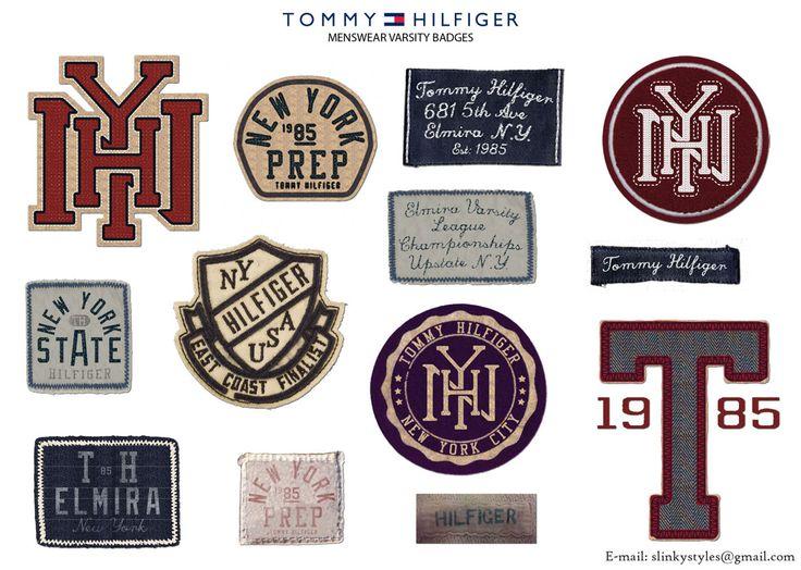 varsity inspired badges patches for tommy hilfiger. Black Bedroom Furniture Sets. Home Design Ideas