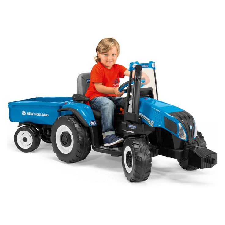 Peg Perego New Holland Tractor Battery Powered Riding Toy - IGOR0074