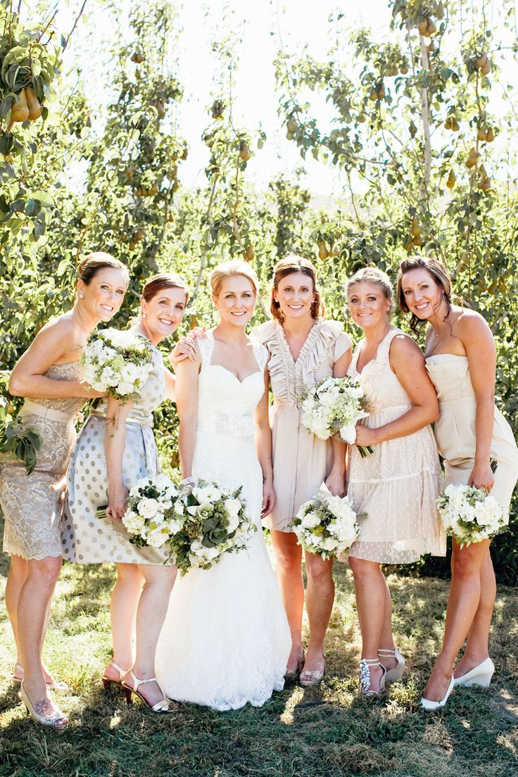 57 best dresses images on pinterest bridesmaids bridesmaid diy backyard wedding from jacquelynn brynn photography neutral bridesmaid dresseswedding ombrellifo Gallery