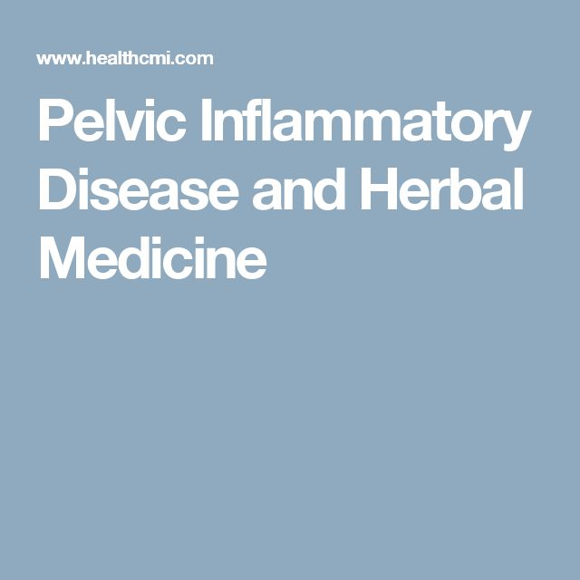 Pelvic Inflammatory Disease and Herbal Medicine