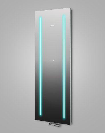 MYSTERYMIRROR– Radiateur Décoratif Miroir avec un sous-éclairage LED- Robinet thermostatique en inox inclus –Écran digital –Design…