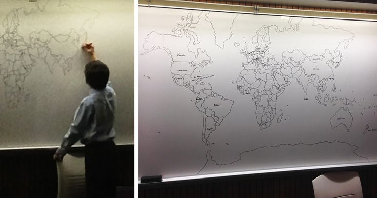 11-Year-Old Boy With Autism Draws Detailed World Map Entirely From Memory | Bored Panda