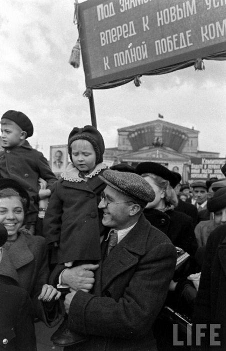 Парад 1 мая, Москва, 1947 г.