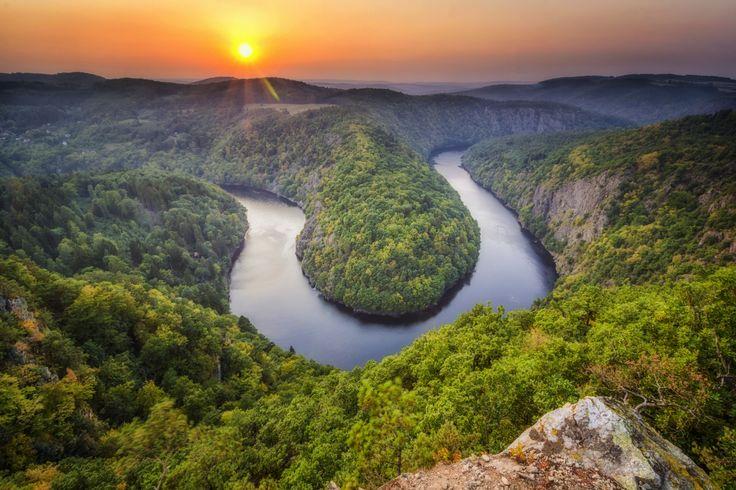 -- Czech Grand Canyon -- - Vltava river in the Czech Republic…