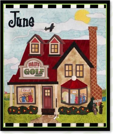 JUNE HOLIDAY HOUSE QUILT KIT