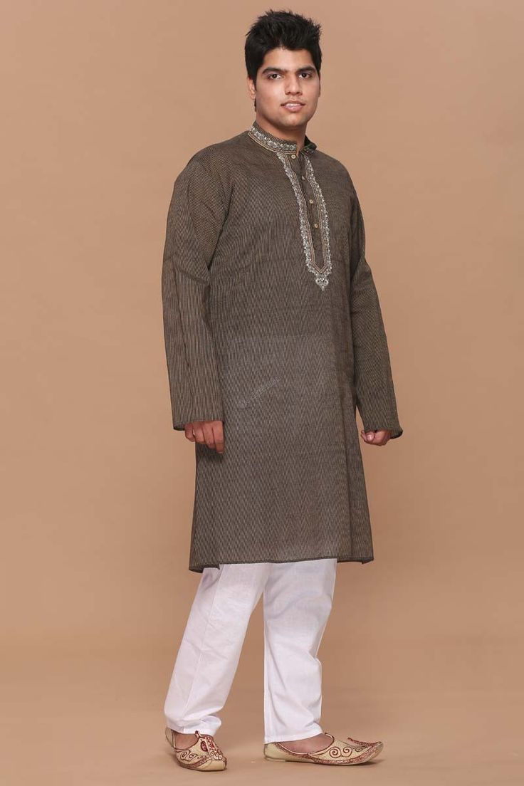 Andaaz Fashion present new arrival Brown mens cotton kurta pajama on Eid-Utsav with price $24.59. All Collection are now in our online store . http://www.andaazfashion.us/brown-mens-cotton-kurta-pajama-5064.html