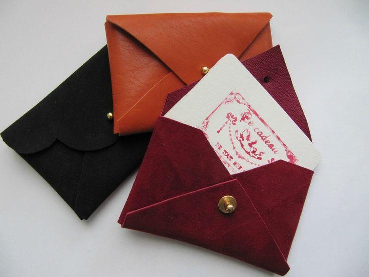 Les 25 meilleures id es de la cat gorie porte cartes sur for Trousse de couture en cuir
