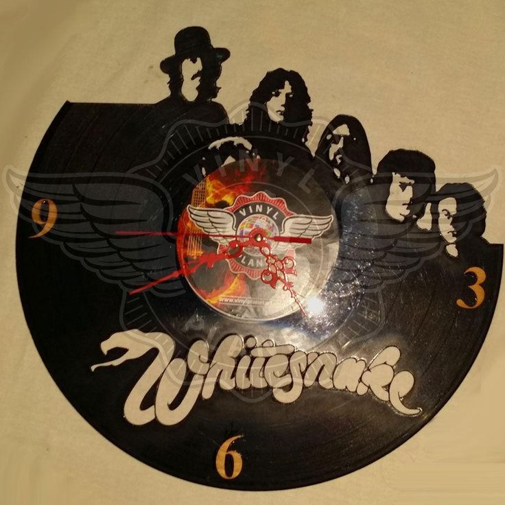 VINYL PLANET Wall Clock WHITESNAKE Home Record Unique Decor upcycled 12''
