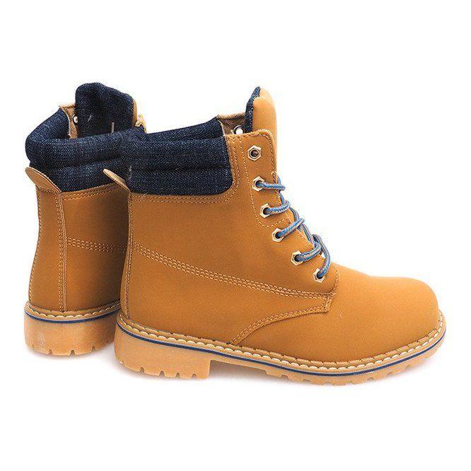 Jesienne Timberki Trapery 1 16 Yell Blu Brazowe Lace Up Shoes Women Shoes Brown