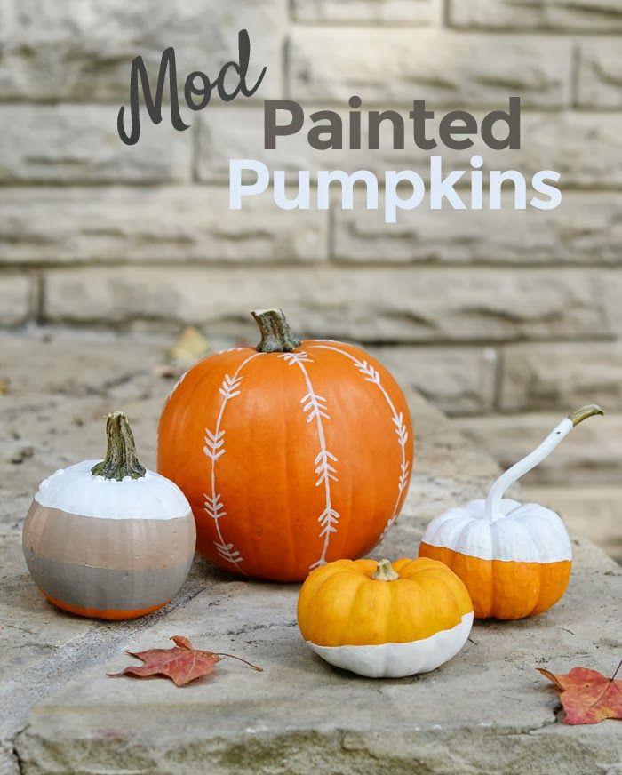 Mod Painted Pumpkins. 4men1lady.com