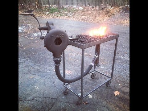 Home Made Coal Forge - YouTube