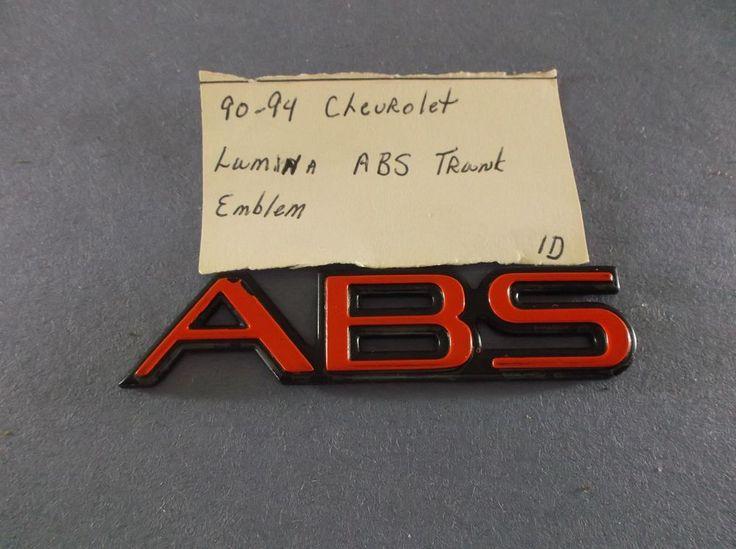 Chevrolet Lumina ABS Emblem 90-94 Red logo badge logo script nameplate oem 1D #Chevrolet