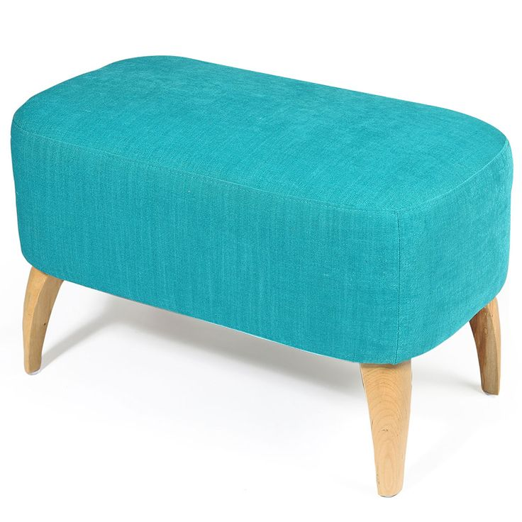 Aqua Nordic Upholstered Stool  | 66x42cm by Bold Boutique Updates on POP.COM.AU