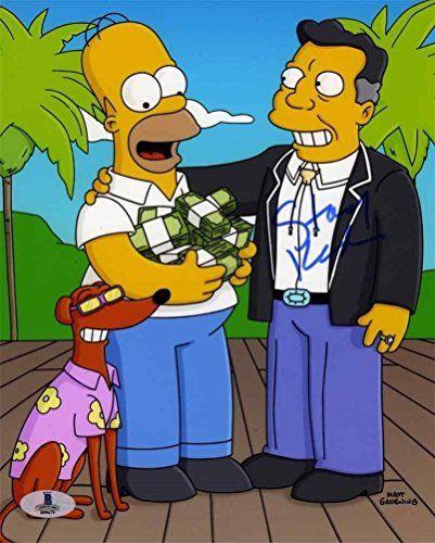 Stacy Keach Simpsons Autographed Signed 8X10 Photo Beckett Bas Coa - B