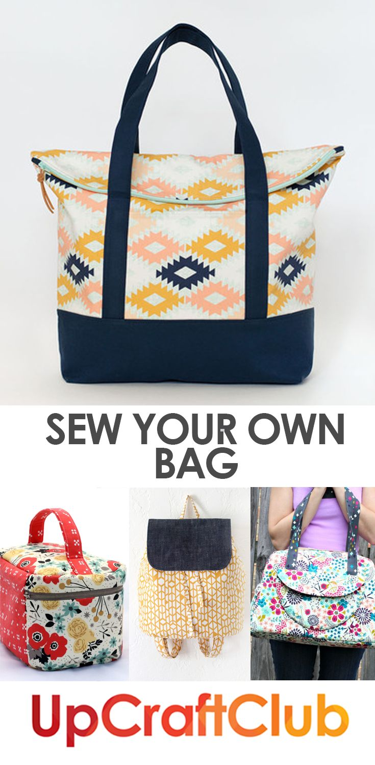 Sew a great bag with easy to follow PDF sewing patterns on UpCraftClub.com.