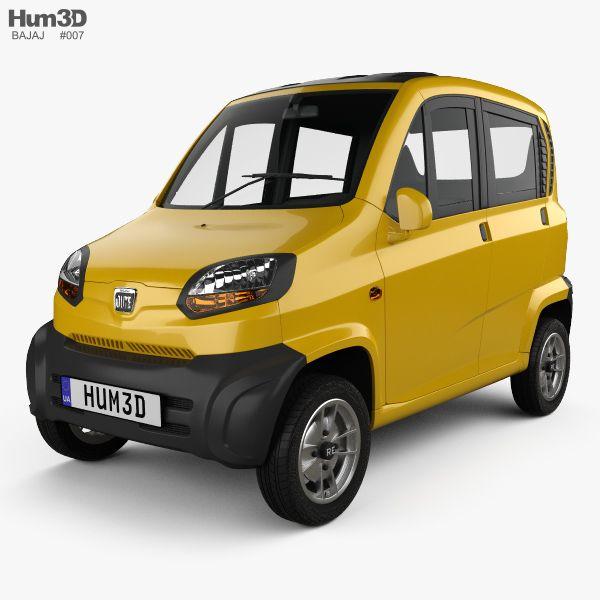 3d Model Of Bajaj Qute 2018 3d Model Model Automobile