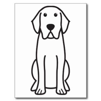 Labrador Retriever Dog Cartoon Post Cards