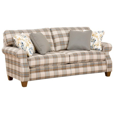 I pinned this Broyhill Angeline Sofa from the Vintage Verve event at Joss and Main! Very nice for front room just small amt blue