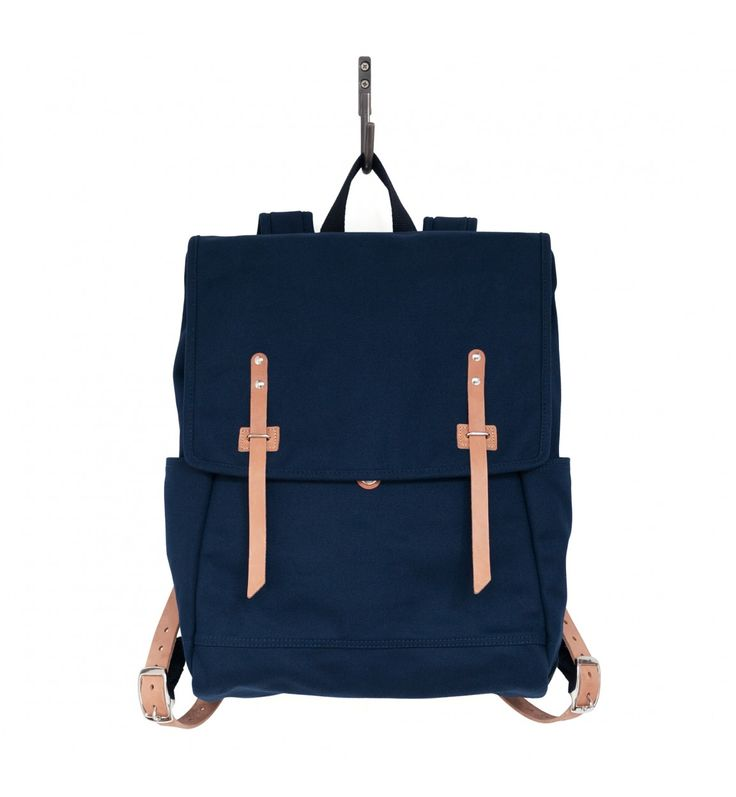 Farm Ruck Sack Navy Canvas and Natural Horween® HS Leather
