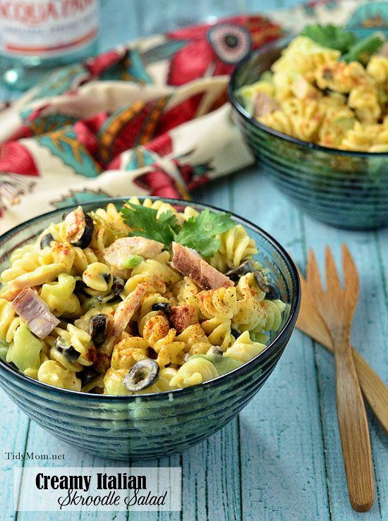 Creamy Italian Skroodle Salad via @tidymom - looks amazing!