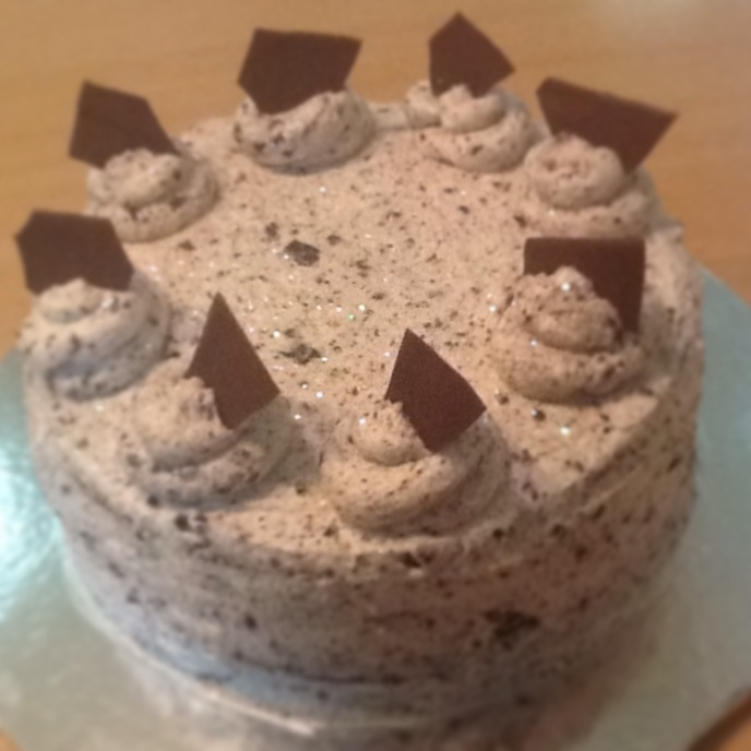 Chocolate cake with cookies and cream filling and frosting! #ToDieFor