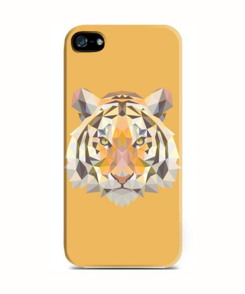 Character iPhone 5 Case  by KRG Store. Geometric style tiger illustration. Super cool tiger head print on yellow hard case, also available for samsung galaxy grand, samsung galaxy s3, s4, samsung galaxy note 2, 4, red mi xiaomi, and iPhone 4,4s, 5, 5s, 5c. http://www.zocko.com/z/JH9Il