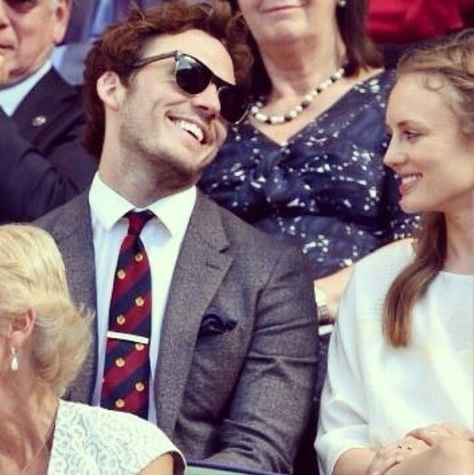 Sam Claflin and Laura Haddock The way he looks her